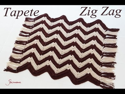 Passo a passo | Tapete de Crochê | Zig Zag | Professora Simone