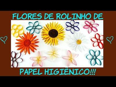 DIY - Flores de rolinho de Papel Higiênico - Artesanato.Reciclagem