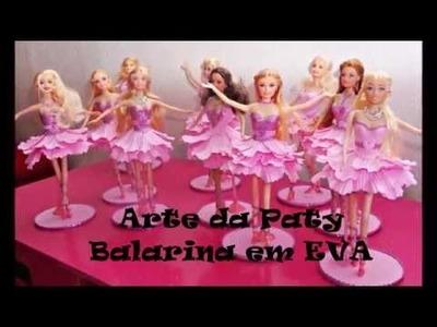 Barbie bailarina em eva passo a passo