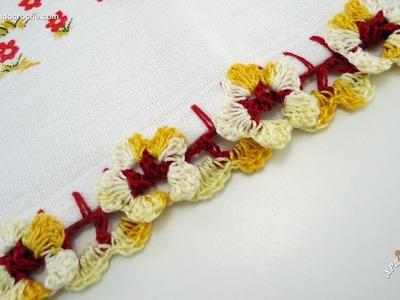 Bico de Crochê Florzinhas - Aprendendo Croche