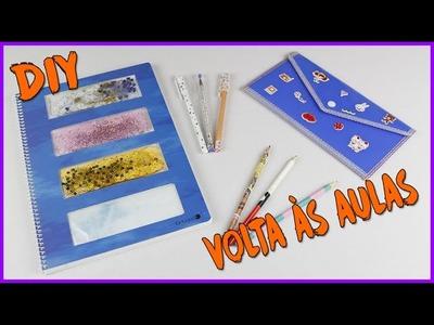 Caderno que brilha no escuro, canetas, lápis e estojo - Volta às aulas muito fofo!!!!