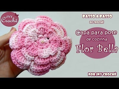 Capa para pote de cozinha Bella - JNY Crochê