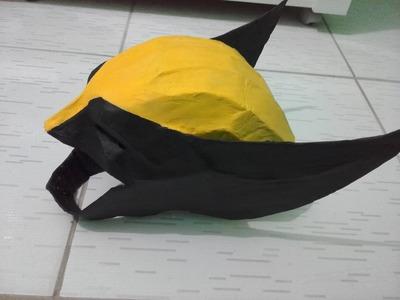 Como fazer a máscara do Wolverine !