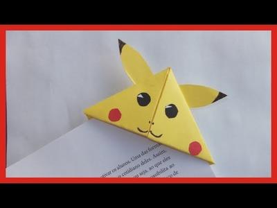Como Fazer marca páginas Pikachu - série Pokemon
