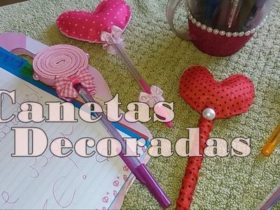 DIY: Canetas decoradas (Parte1) #CoisasDaGéssica