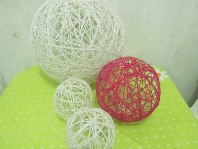 DRIKA SOUZA : Aprendendo - Como fazer Bola de Barbante Decorativa