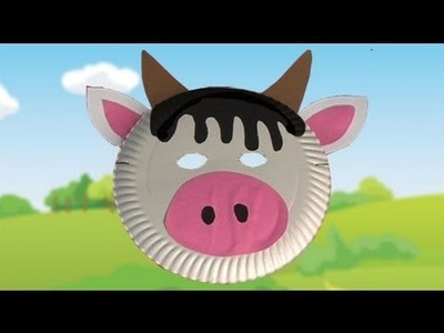 Fazer uma máscara para fantasia de carnaval de vaca