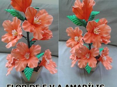 FLOR AMARÍLIS DE E.V.A
