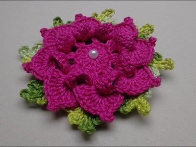Flor de Crochê Para Aplicação em Tapetes e Diversos Trabalhos #03