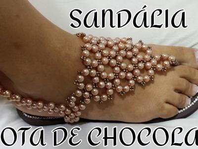SANDÁLIA GOTA DE CHOCOLATE