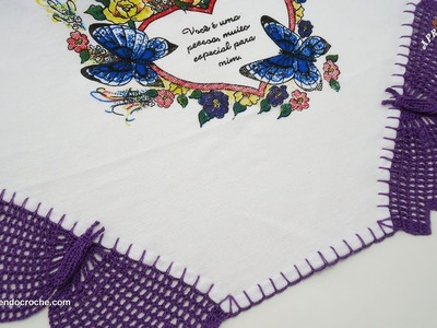 Barrado de Crochê Borboletas - Aprendendo Croche