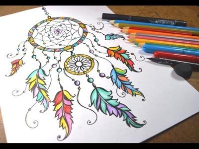 Desenhando Filtro dos Sonhos - Speed Drawing