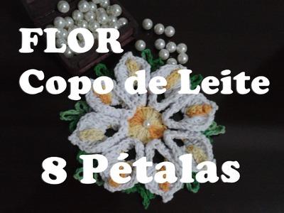 Flor Copo de Leite 8 Pétalas