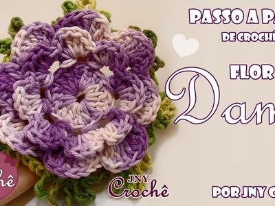 Flor de crochê Dama - JNY Crochê