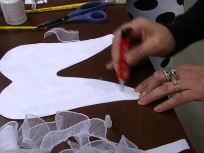 Mulher.com - 04.09.2015 - Asa enfeite de porta com tecnica de prata envelhecida - Claudia Aquilino