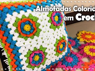 ALMOFADA COLORIDA EM CROCHÊ com Simone Eleotério - Programa Arte Brasil - 27.07.2016