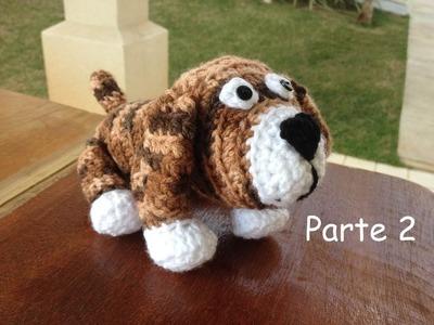 Cachorro em crochê.  Parte 2 - Professora Maria Rita