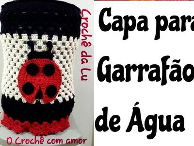 Capa de Garrafão.Galão de Água em crochê Joaninha - Jogo de Cozinha