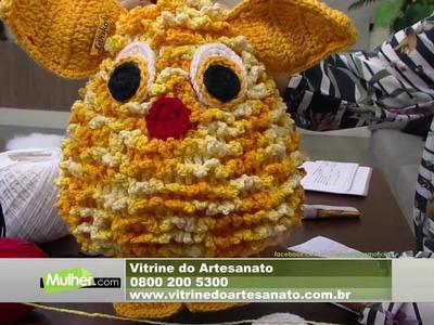 Mulher.com - 01.09.2016 - Bichinho Rick em crochê - Cristina Luriko P1