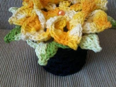 Peso para porta - Flor em crochê
