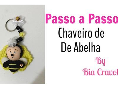 Abelha Chaveiro-Passo a Passo- biscuit - Modele com a Bia todo dia - Bia Cravol