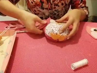 Como fazer corujinha de feltro sem costura!!!
