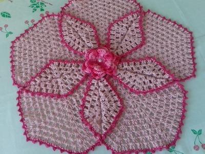 Tapete Segredo - Folheado  de Crochê em Barbante - 1º Parte com Cristina Coelho Alves