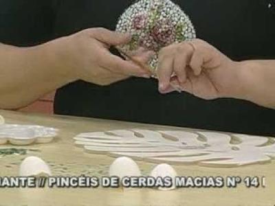 ARTE BRASIL -- ANDRÉIA GOMES -- MOSAICO COM CASCA DE OVO (17.02.2011 - Parte 2 de 2)