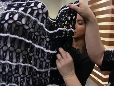 Mulher.com - 24.06.2016 - Poncho em crochê de grampo - Helen Mareth PT2