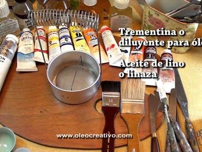 Óleo Materiales para comenzar a pintar con óleo