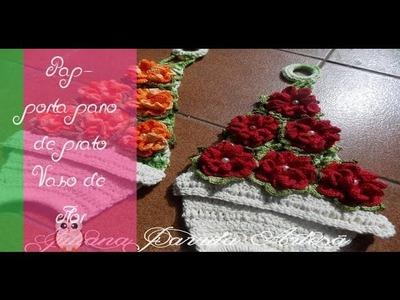 Pap- porta pano de prato.guardanapo- vaso de flor