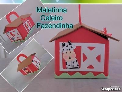 COMO FAZER LEMBRANCINHA FAZENDINHA MALETA CELEIRO