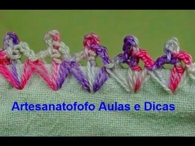 Caseado em crochê para fraldas - CROCHÊ 51  - PASSO A PASSO