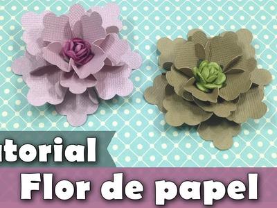 Como fazer flores de papel | Tutorial | PAP