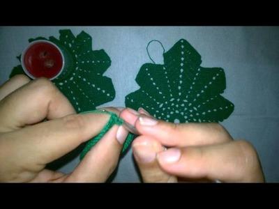Porta vela natalino em crochê, 2* vídeo (Final)