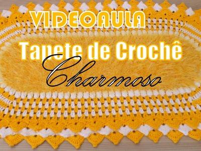 "Tapete de Crochê - Charmoso ""Diandra Schmidt Rosa"""