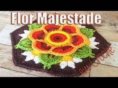 Aprendendo Flores em Crochê - FLOR MAJESTADE