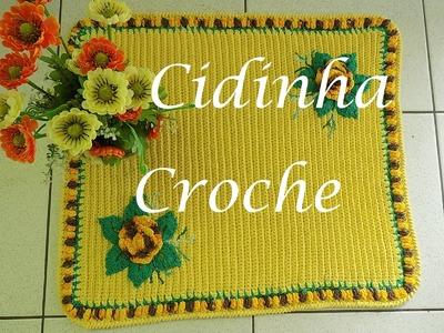 Croche-Tapete Flor De Lis- Passo A Passo- Tutorial Completo