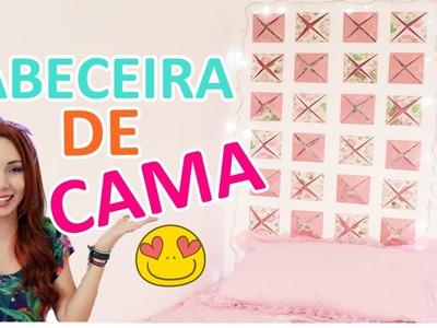 DIY: CABECEIRA PARA A CAMA SUPER FÁCIL #eicustomizei