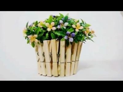 DIY: Vaso para decorar a sua casa - Com prendedor de roupa
