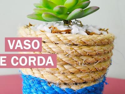 VASO DE CORDA - DIY - Decorando em 1 minuto #1