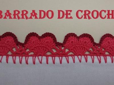 Barradinho de Crochê Corações - Wilma Crochê