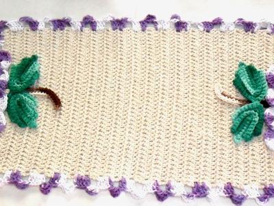 Centro de mesa cacho de uva em crochê