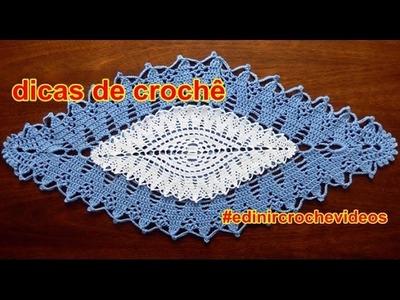 DICA DE CROCHÊ | TAPETE DE CROCHE | COMO AUMENTAR OU DIMINUIR | EDINIR CROCHE