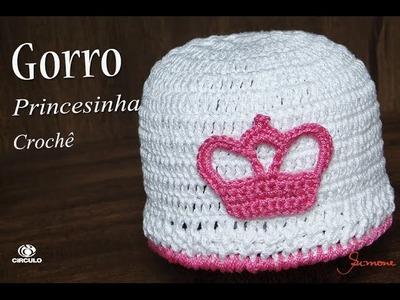 Gorro de Crochê Princesinha | RN à 1 mês  | Professora Simone