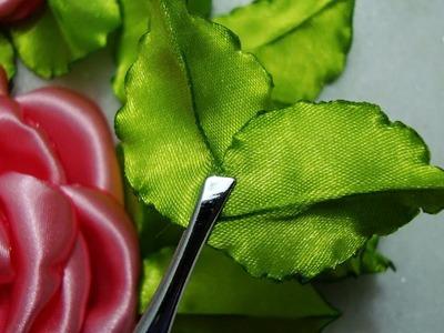 Flor de tecido - FAZER a FOLHA da Rosa lindaa Número 3!! PASSO à PASSO!!