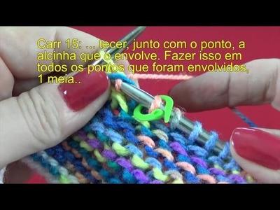 Gorro de tricô com carreiras encurtadas {Tricota Curitiba}