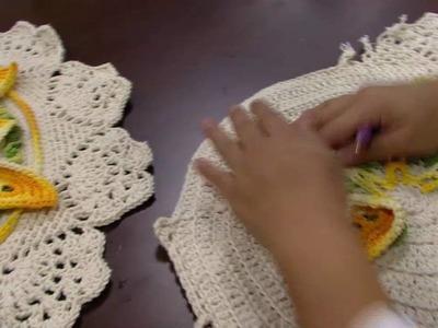 Mulher.com - 27.05.2016 - Toalha de mesa em crochê - Cristina Luriko PT1