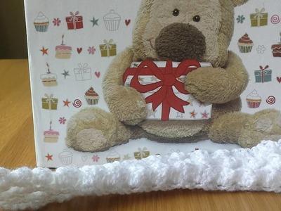 Ponto 3D diferente para mantas de bebe em croche