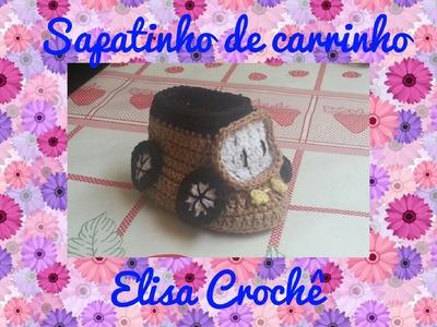 Sapatinho carrinho de crochê (1ª parte ) # Elisa Crochê